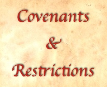 Covenants and restrictions